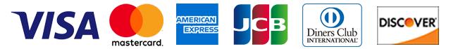クレジットカードブランド「VISA」「MasterCard」「AMEX」「JCB」「ダイナースクラブ」「ディスカバー」